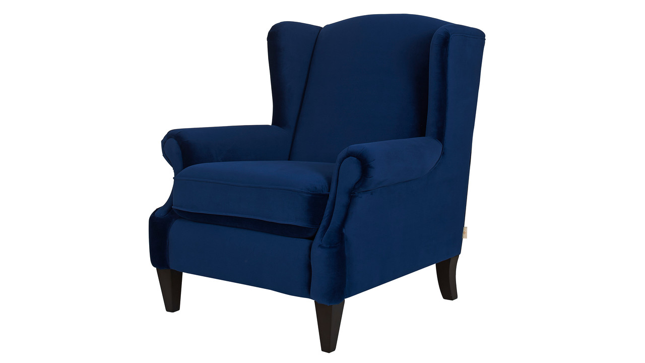 Anya Arm Chair Navy Blue Jennifer Taylor Home