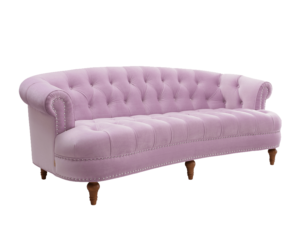 Rosa Couch La Rosa Chesterfield Sofa, Lavender - Jennifer Taylor Home