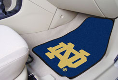 Notre Dame Fighting Irish 2 Pc Carpet Floor Mats