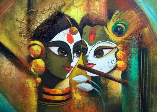 Krishna And Radha 3d Wallpaper Buy Eternal Love By Community Artists Group Rs 6790