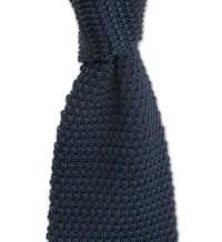 Silk Knit Tie in Navy by Gitman Brothers - Hansen's Clothing