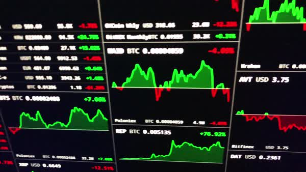 Bitcoin crash with large red downward trajectory on live price chart