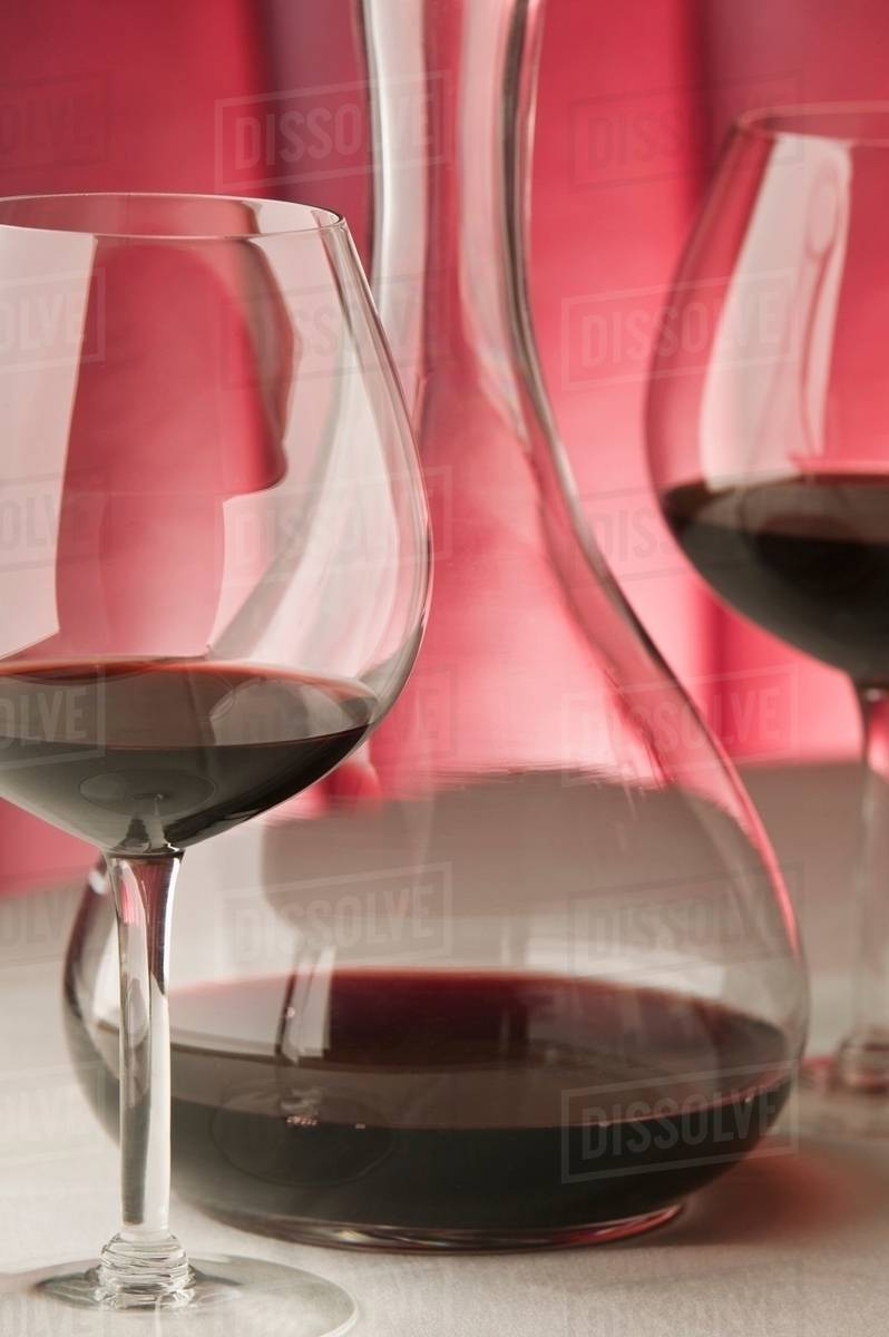 Decanter Wine Glas Red Wine Glasses And Decanter Stock Photo