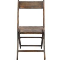 Antique Black Wood Folding Wedding Chair | Slatted Wedding ...