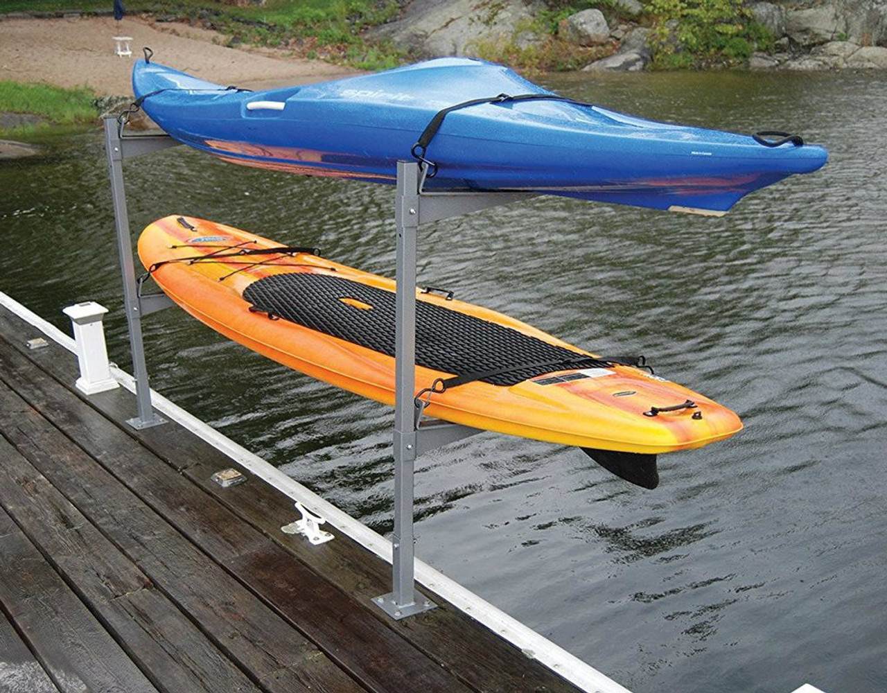 2 Kayak Or Sup Dock Rack Stores Boats Over The Water