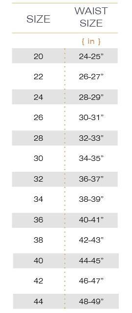 Waist Trainer Size Chart Hourglass Angel