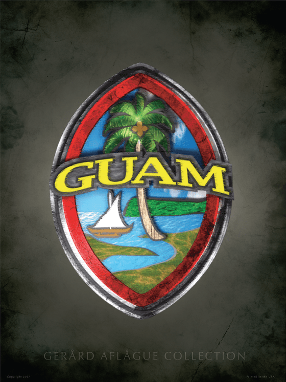 Home Decor Bath Textured Guam Seal Poster
