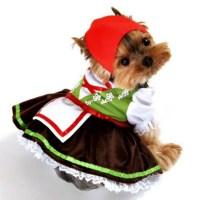 Alpine Girl Lederhosen Dog Costume   Anit Pet Dog ...