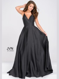 Jovani JVN48791 V-Neck Spaghetti Strap Prom Dress ...