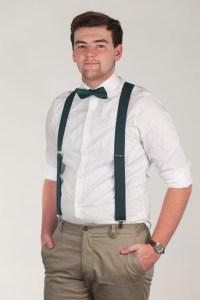 HUNTER GREEN Pre-tied Bow Ties | SuspenderStore