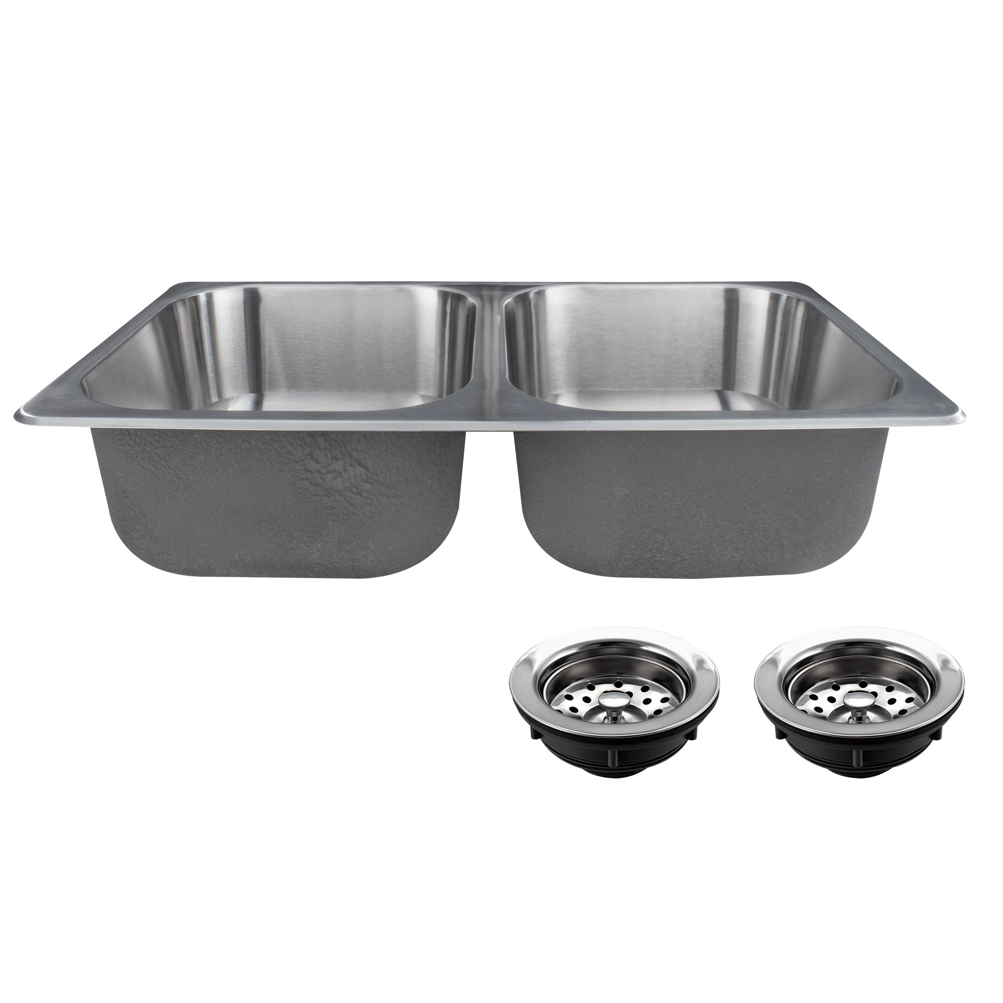 Stainless Steel Double Sink Double Stainless Steel Rv Sink 27 Quot X 16 Quot X 7 Quot Recpro