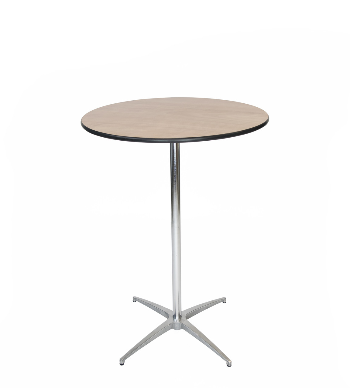 High Top End Table Luan 30 Quot Round Wood Cocktail Table Vinyl Edging 30 Quoth