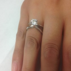Small Of Round Cut Engagement Rings
