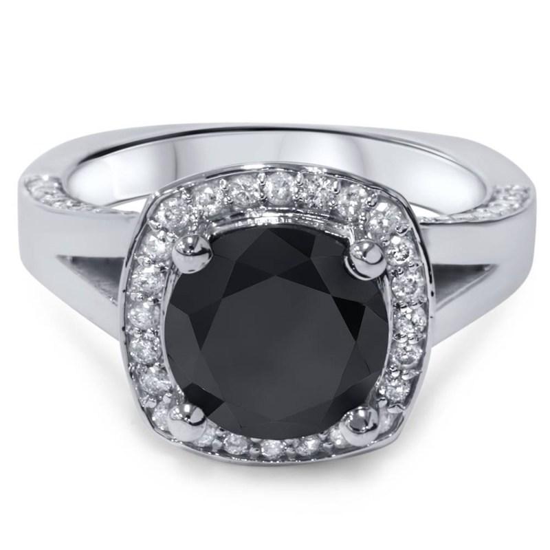 Large Of Black Diamond Engagement Rings