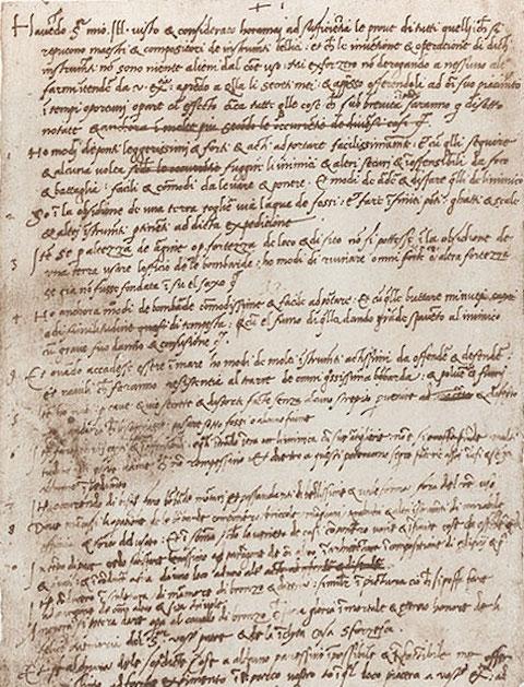 Leonardo da Vinci\u0027s Handwritten Resume (1482) Open Culture
