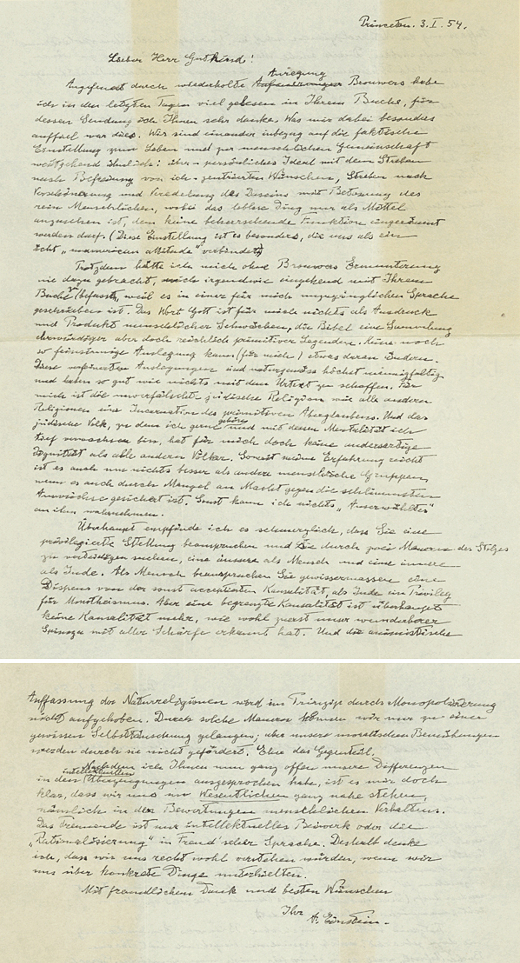 Einstein Gutkind Letter