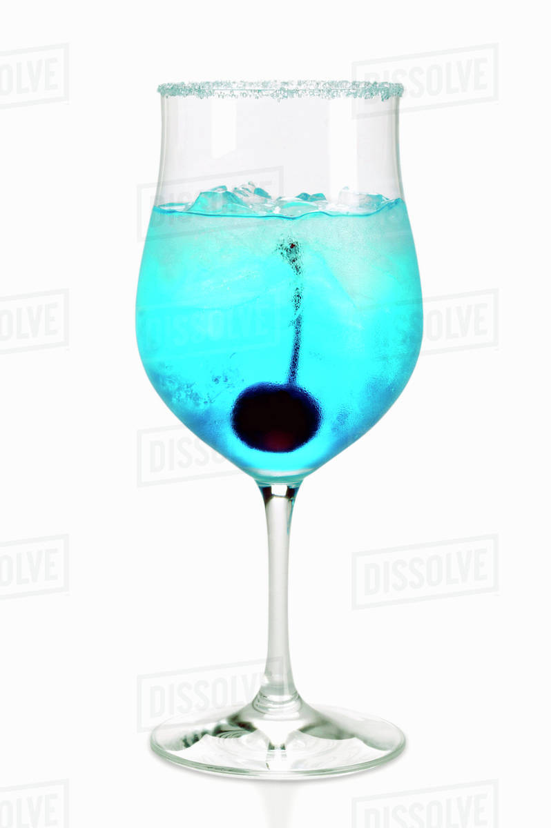 Blue Curacao Cocktail Alkoholfrei Cocktail With Blue Curacao Stock Photo