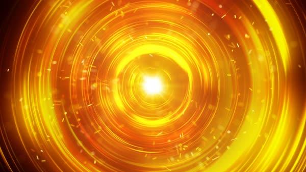 Orange glowing circles fast flashing Abstract futuristic technology
