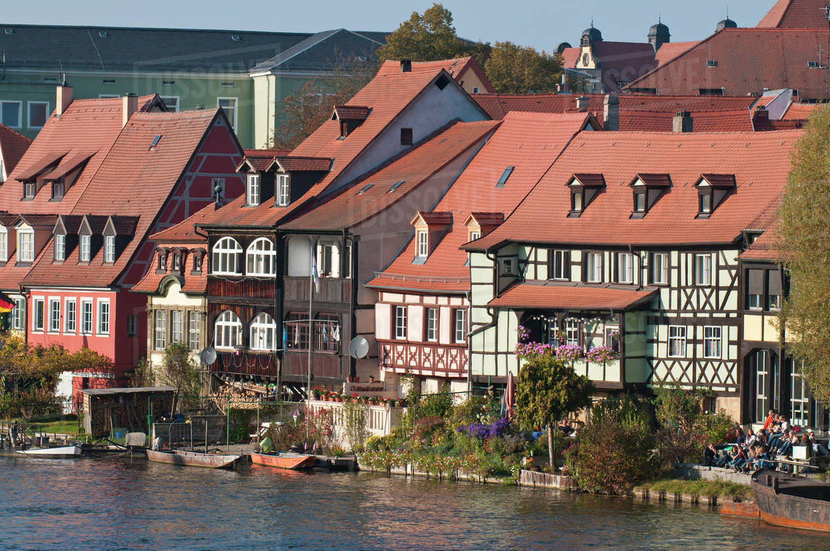 Venice Venedig Little Venice Klein Venedig And River Regnitz In Bamberg Germany Stock Photo
