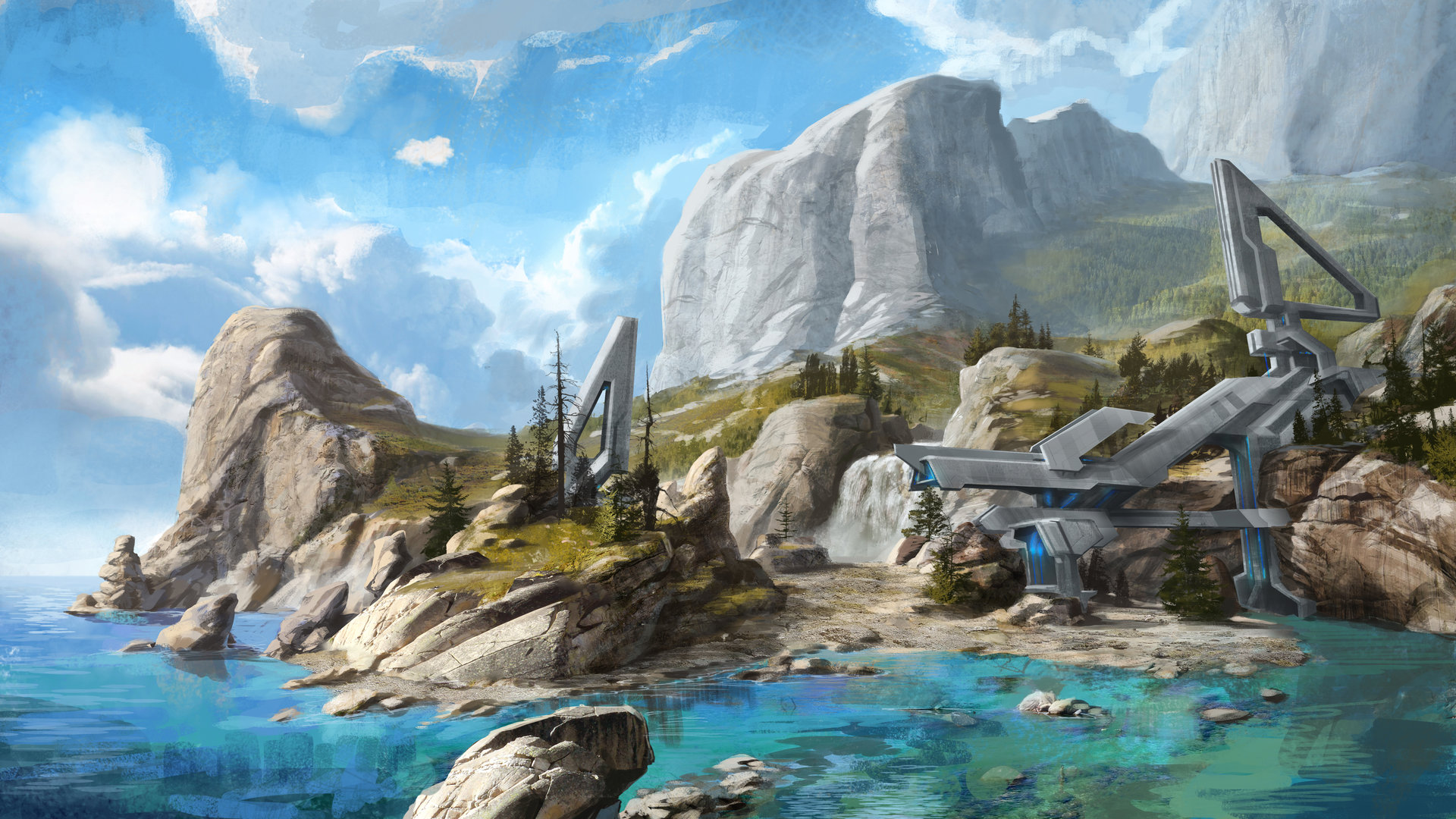 Halo Reach 3d Wallpaper Pc Artstation Halo 3 Dlc Map Concepts Isaac Hannaford