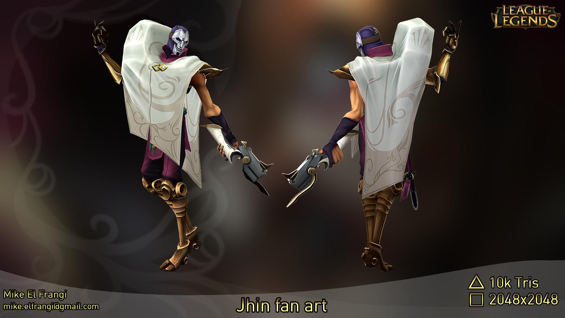 3d Lol Wallpaper Artstation League Of Legends Jhin The Virtuoso Fan Art