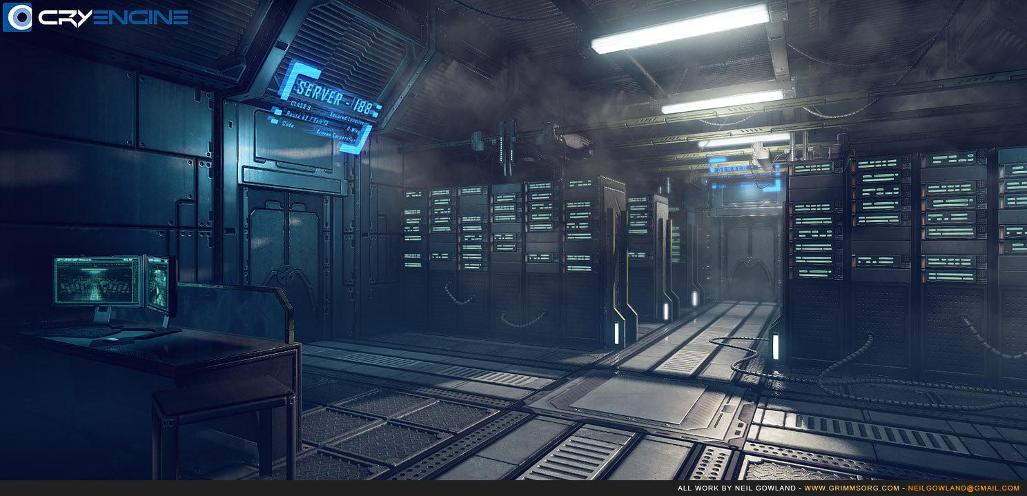 Fall Ceiling Wallpaper Download Artstation Sci Fi Server Room Neil Gowland
