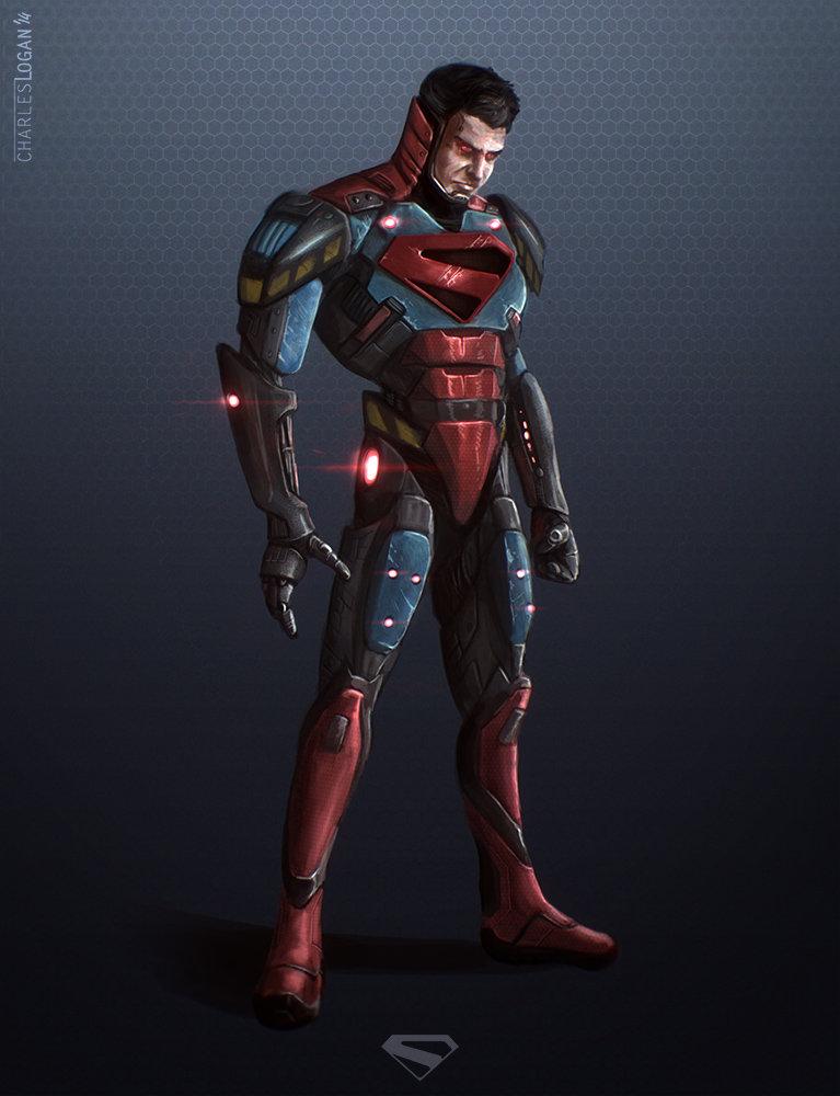 Droid 2 Wallpapers Girl Artstation Cyborg Superman Charles Logan