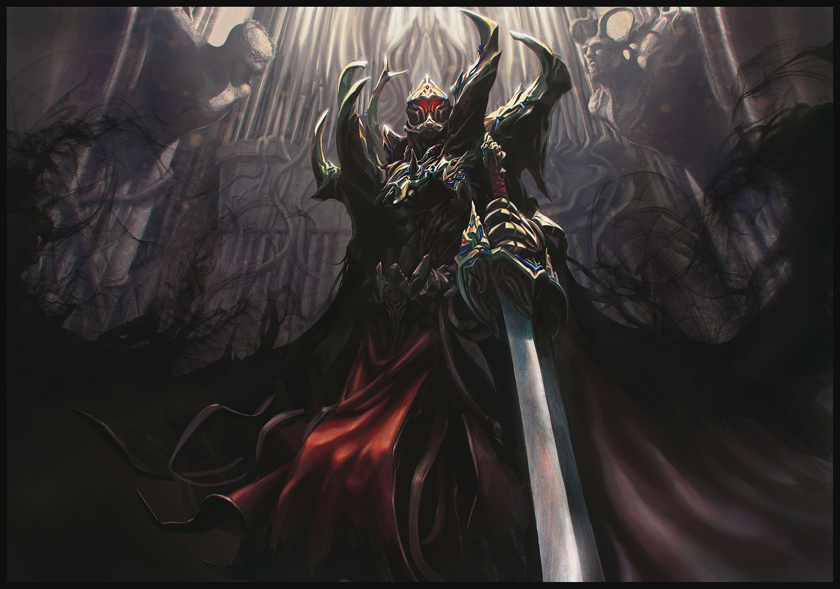 Anime Dark Angel Wallpaper Hui Zou Art Chaos Knight