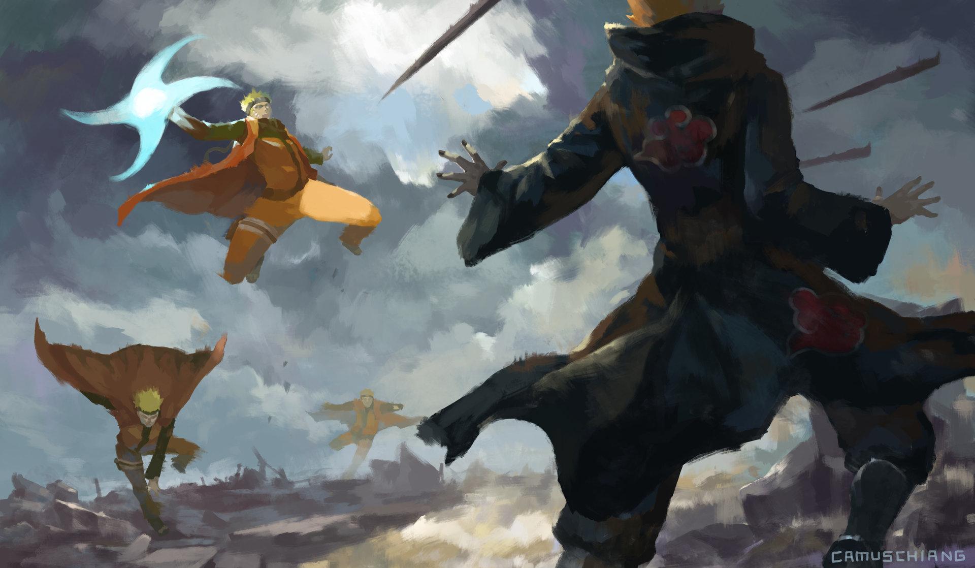 Naruto Nine Tails Wallpaper Hd Artstation Naruto Vs Pain Camus Chiang