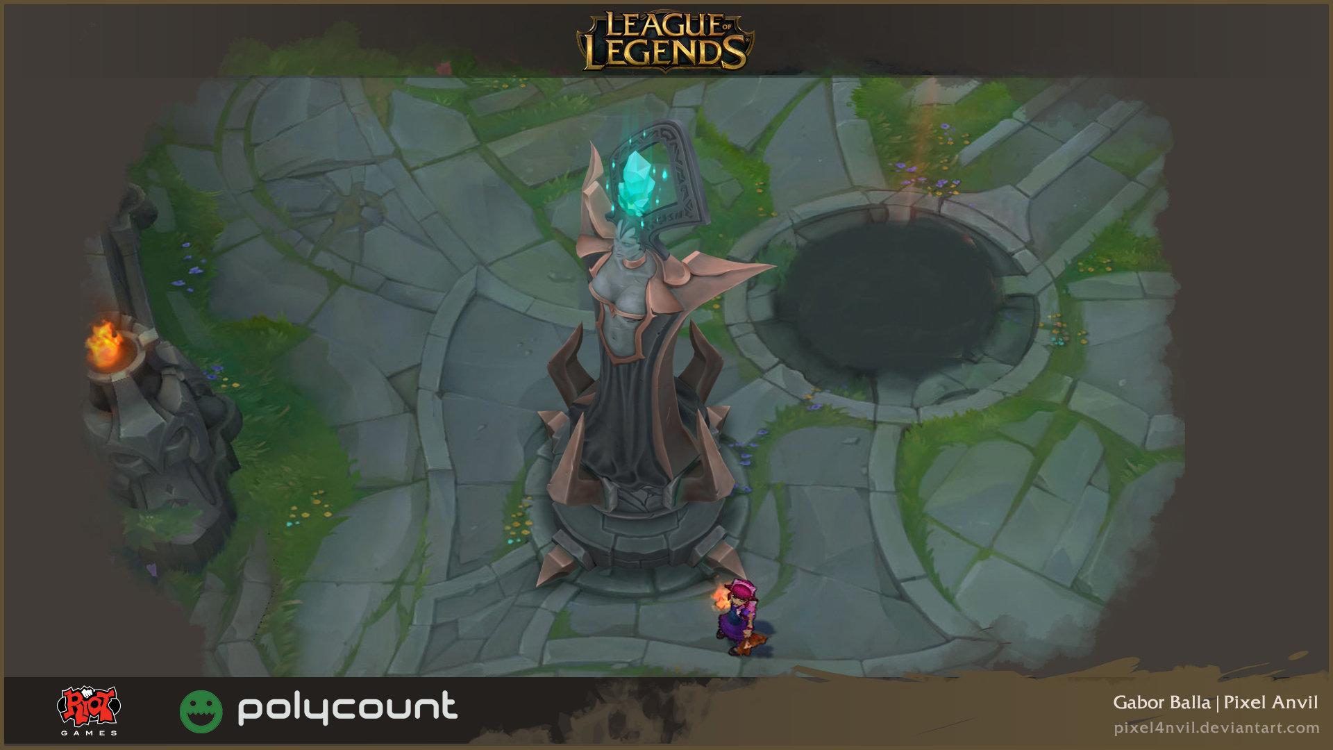 3d Lol Wallpaper Gabor Balla League Of Legends Turret