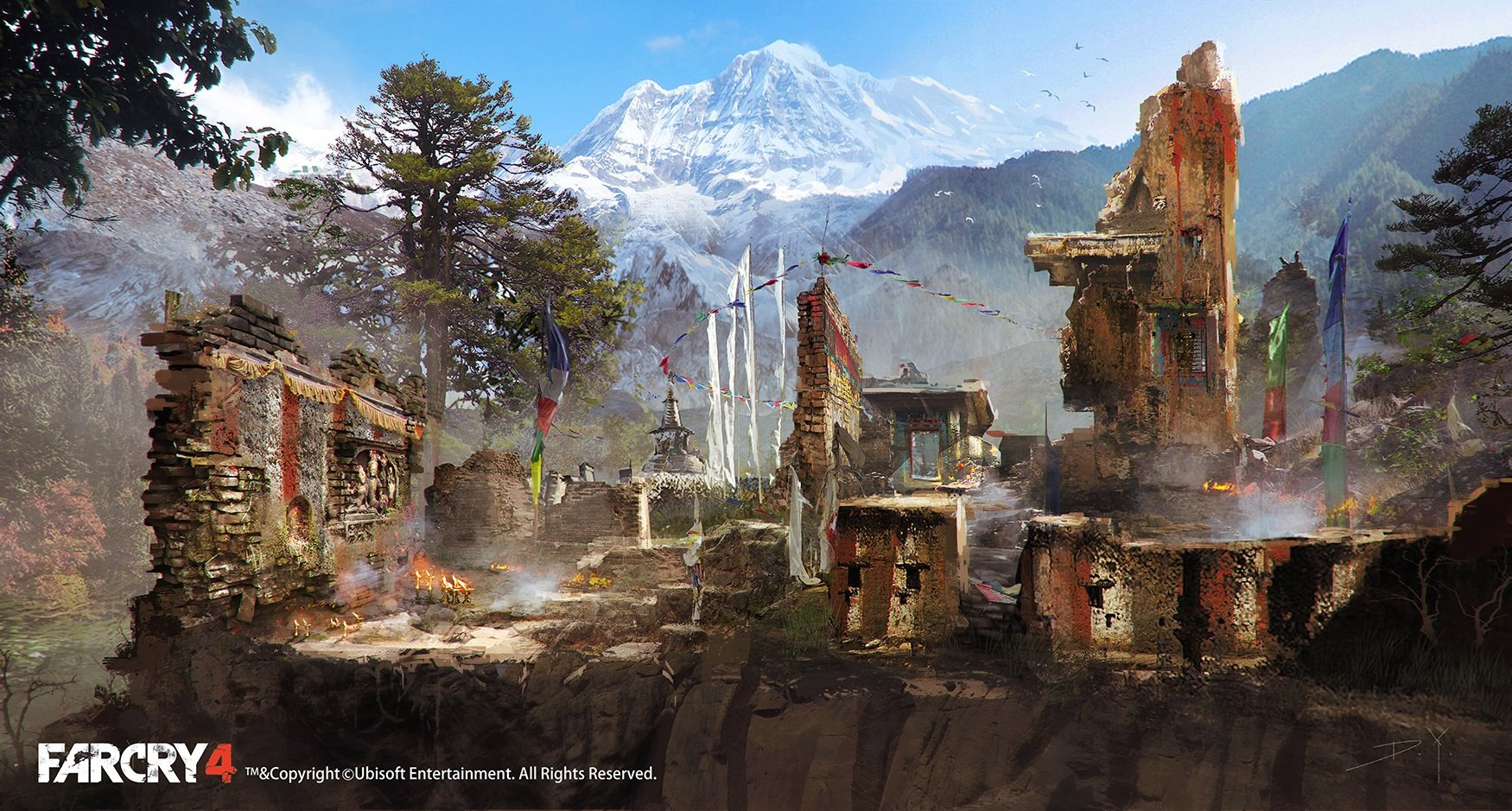 Chinese Girl Painting Wallpaper Artstation Farcry4 Concept Art Ruins Donglu Yu