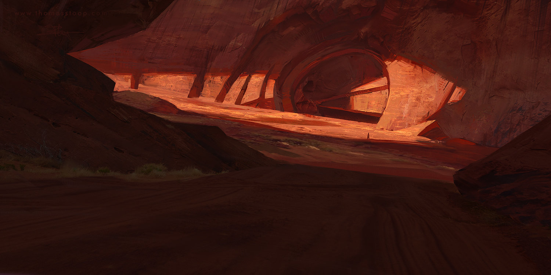 Sci Fi Wallpaper Hd Thomas Stoop Desert Cave