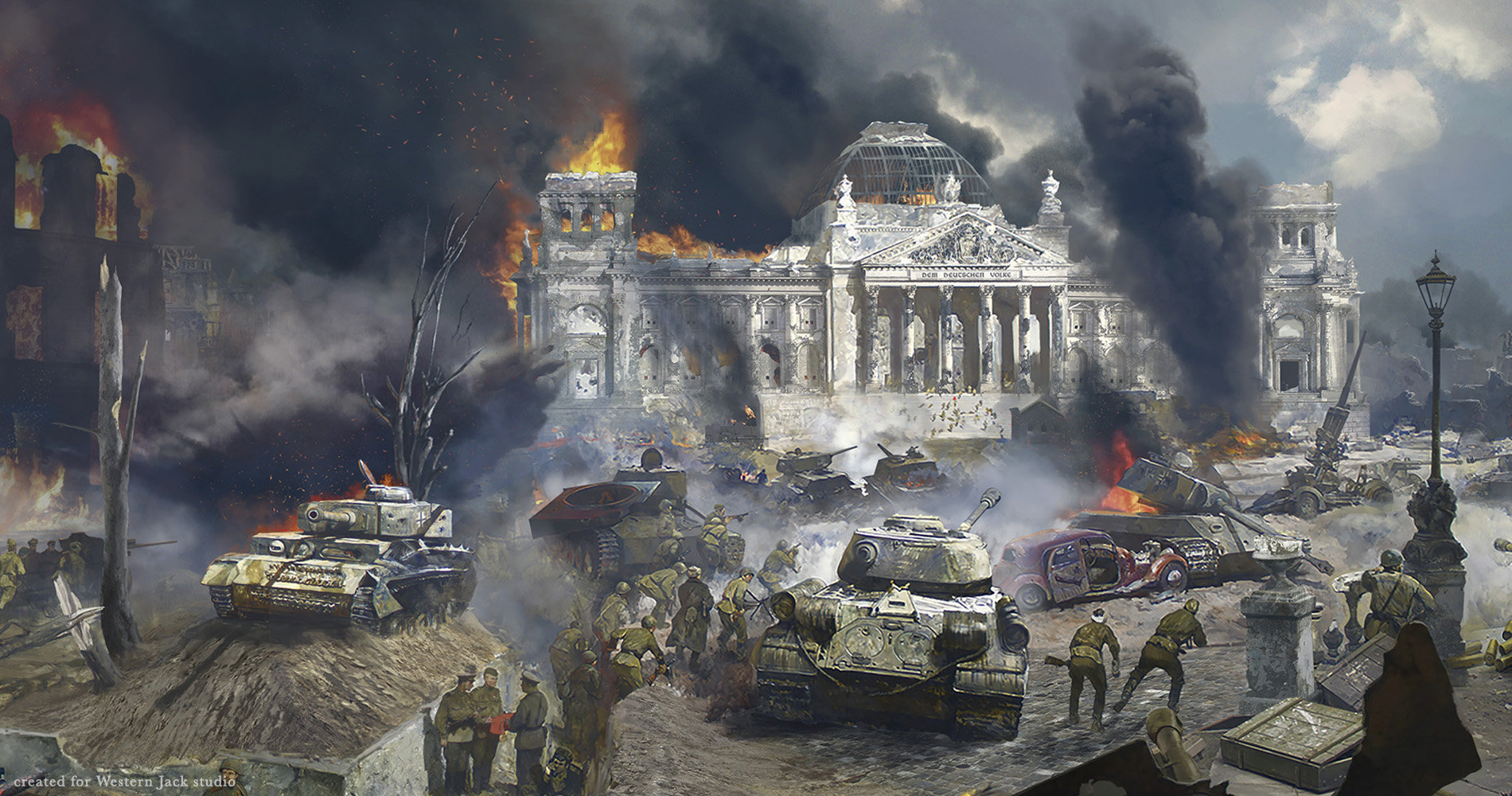 Fall Paintings Wallpaper Alexander Pavlenko Battle Of Berlin