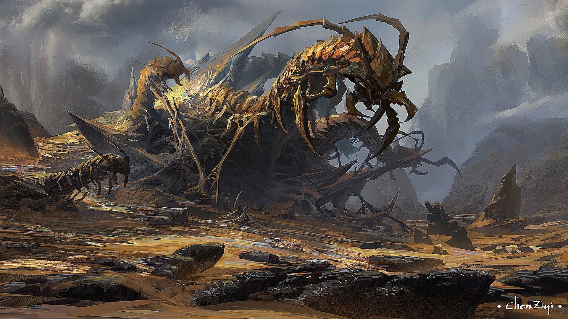 Total War Warhammer Wallpaper Hd Artstation Centipede Mountain Chen Ziyi