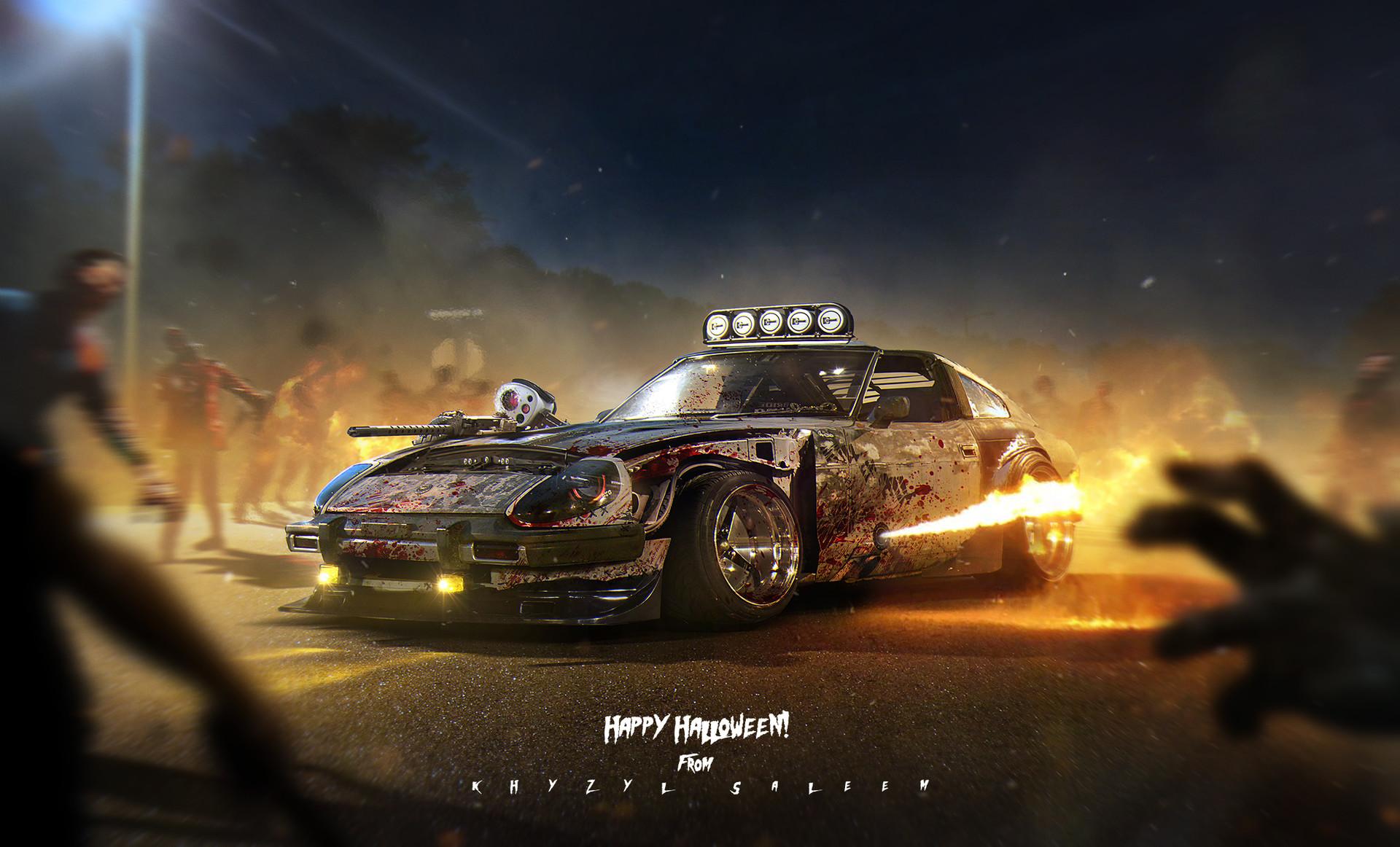 Need For Speed Girl Wallpaper Artstation Z Halloween Khyzyl Saleem