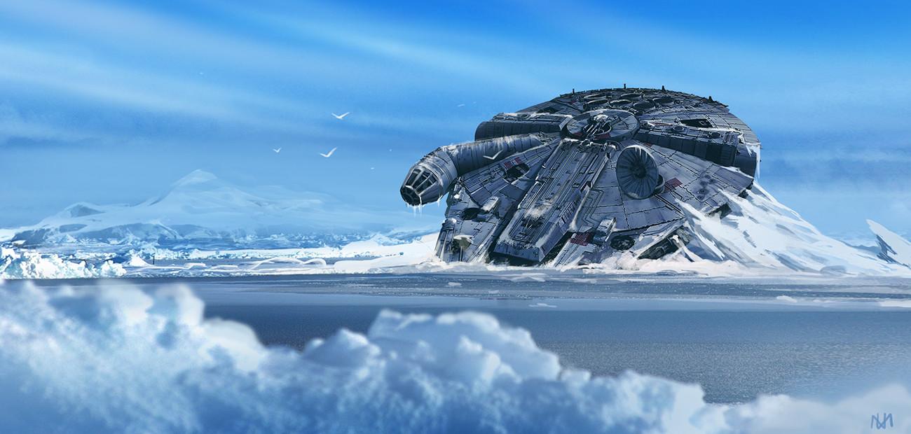Hyperspace 3d Wallpaper Artstation Frozen Millennium Falcon Nagy Norbert