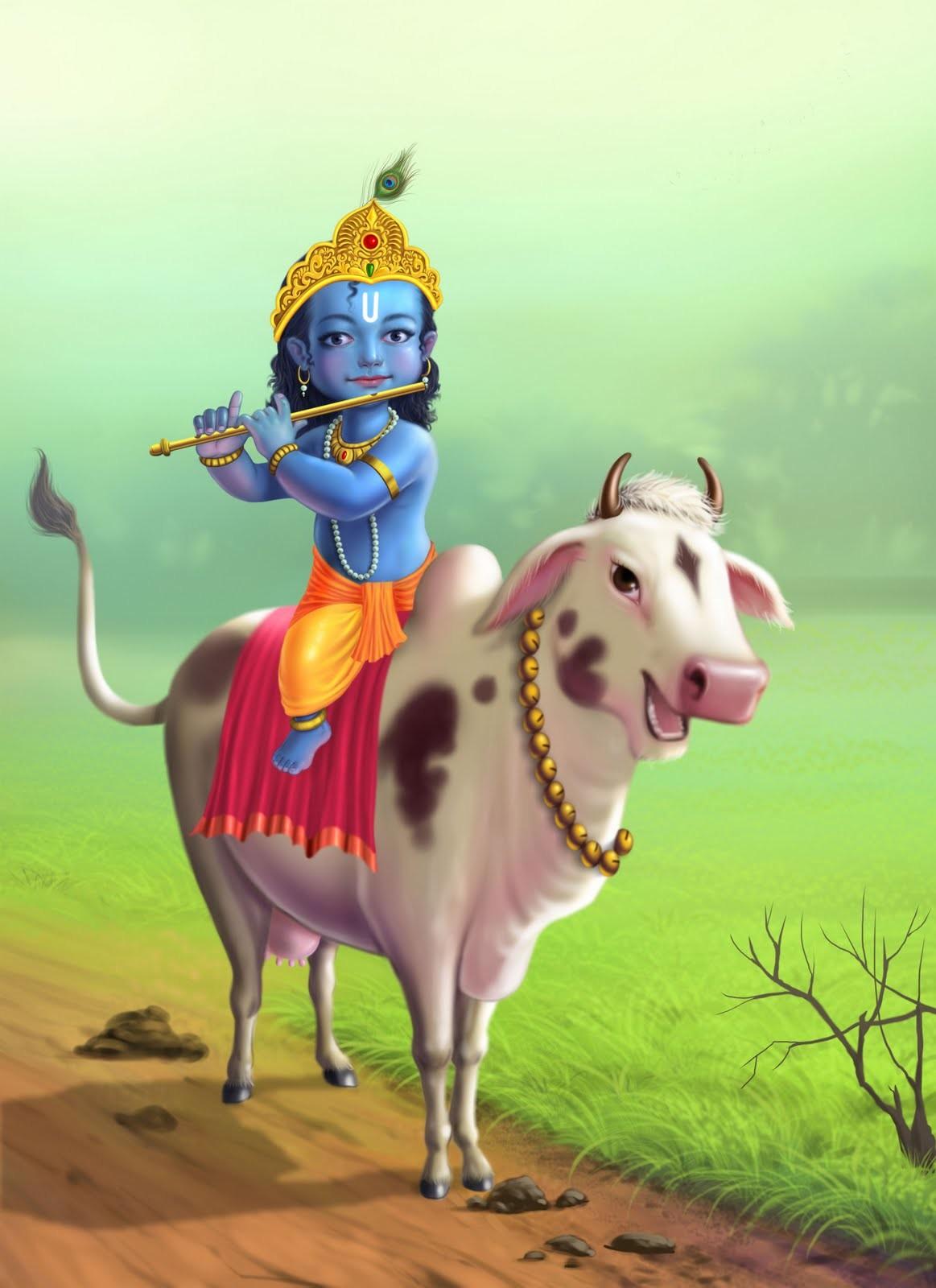 Cute Animal Animation Wallpapers Suhas Manjrekar Little Krishna
