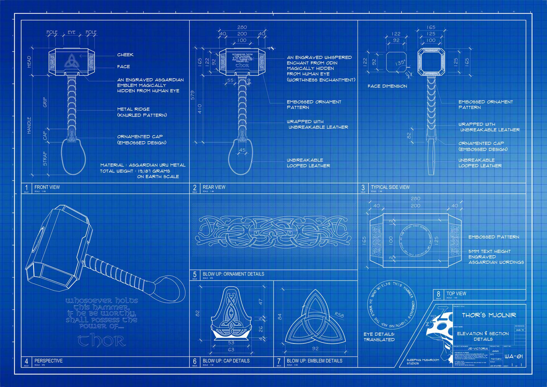 Voltes V Wallpaper Hd Artstation Thor S Mjolnir Blueprint Jie Victoria