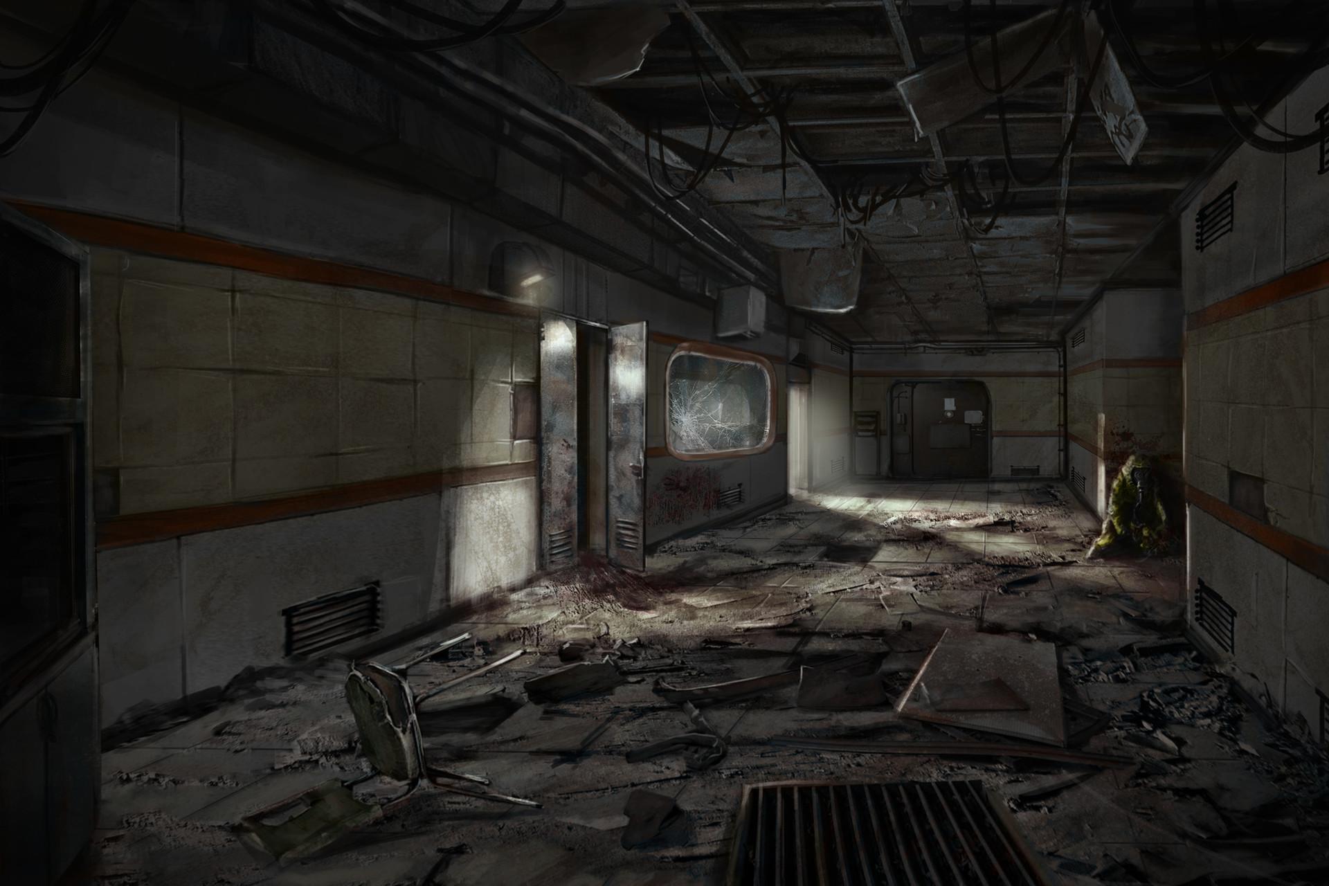3d Wallpaper For Kitchen Artstation Abandoned Research Facility Maik Beiersdorf