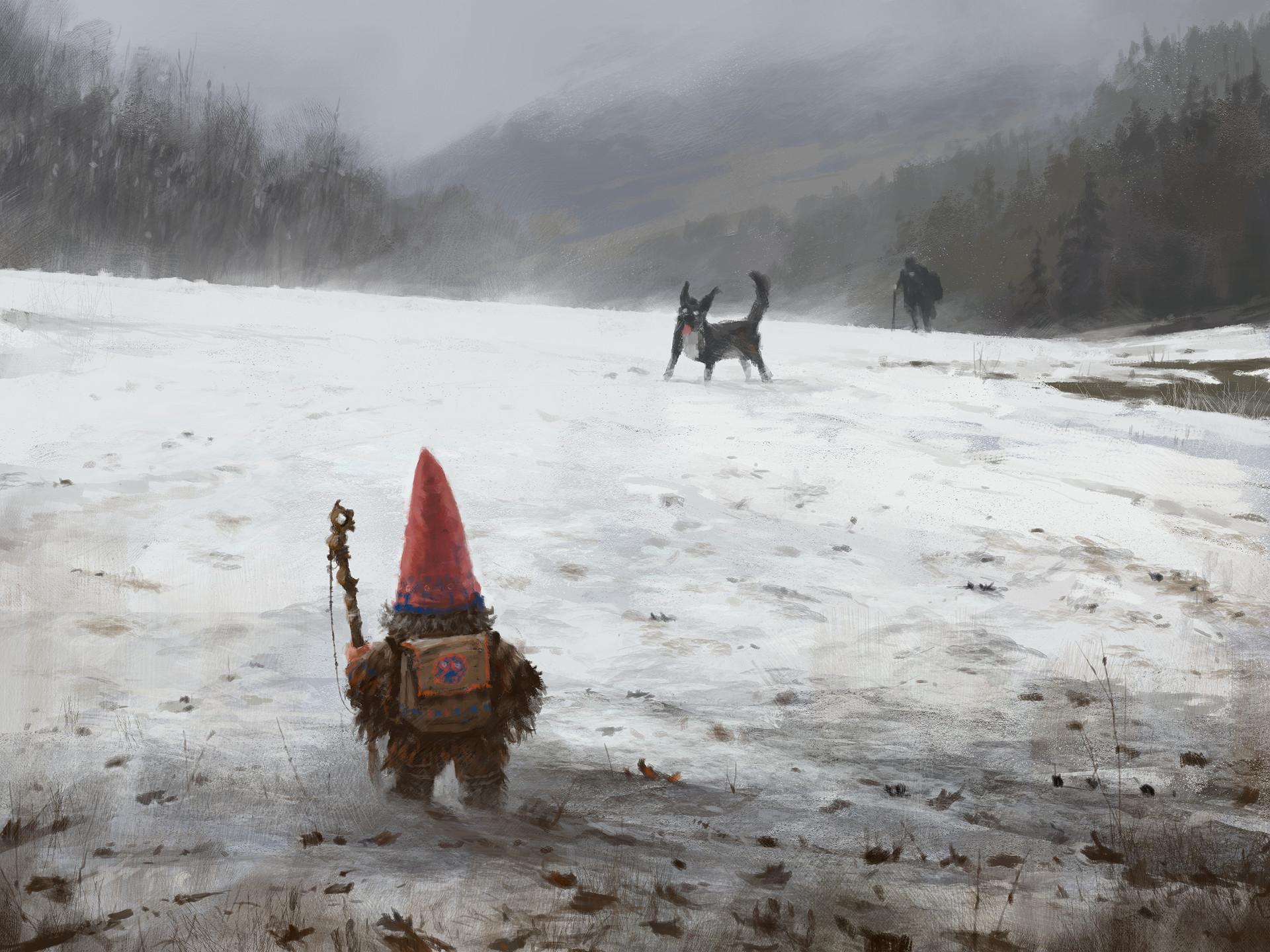 Gnome Animated Wallpaper Jakub Rozalski Wanderer