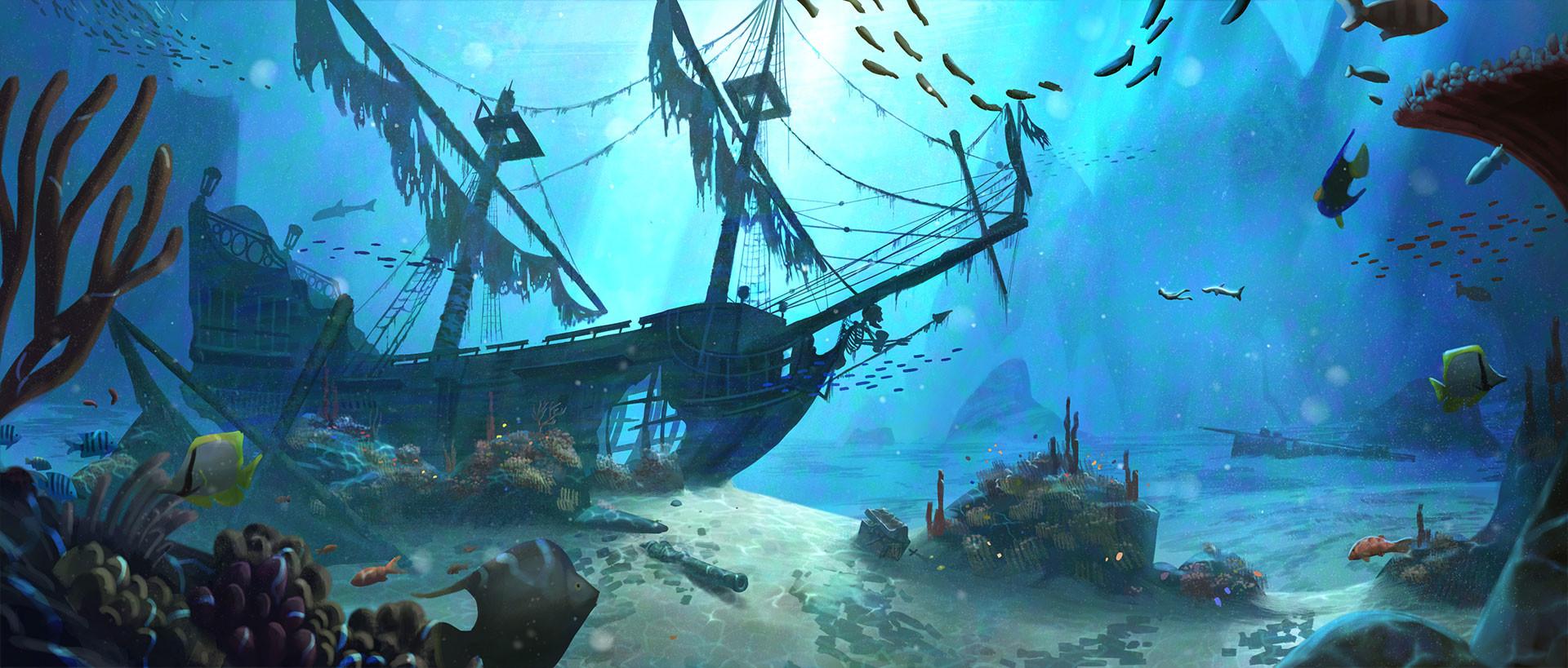 Animated Underwater Wallpaper Artstation Sc Aquarium Cyril Jedor