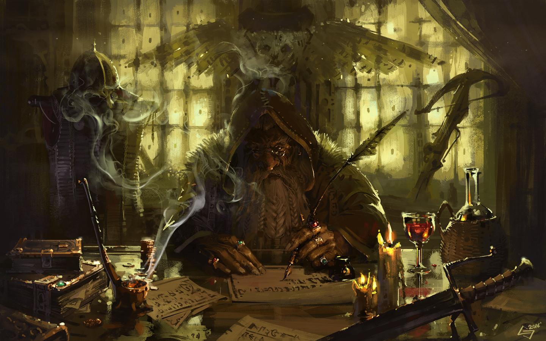 Total War Warhammer Wallpaper Hd Artstation Dwarven Scribe Michał Sztuka