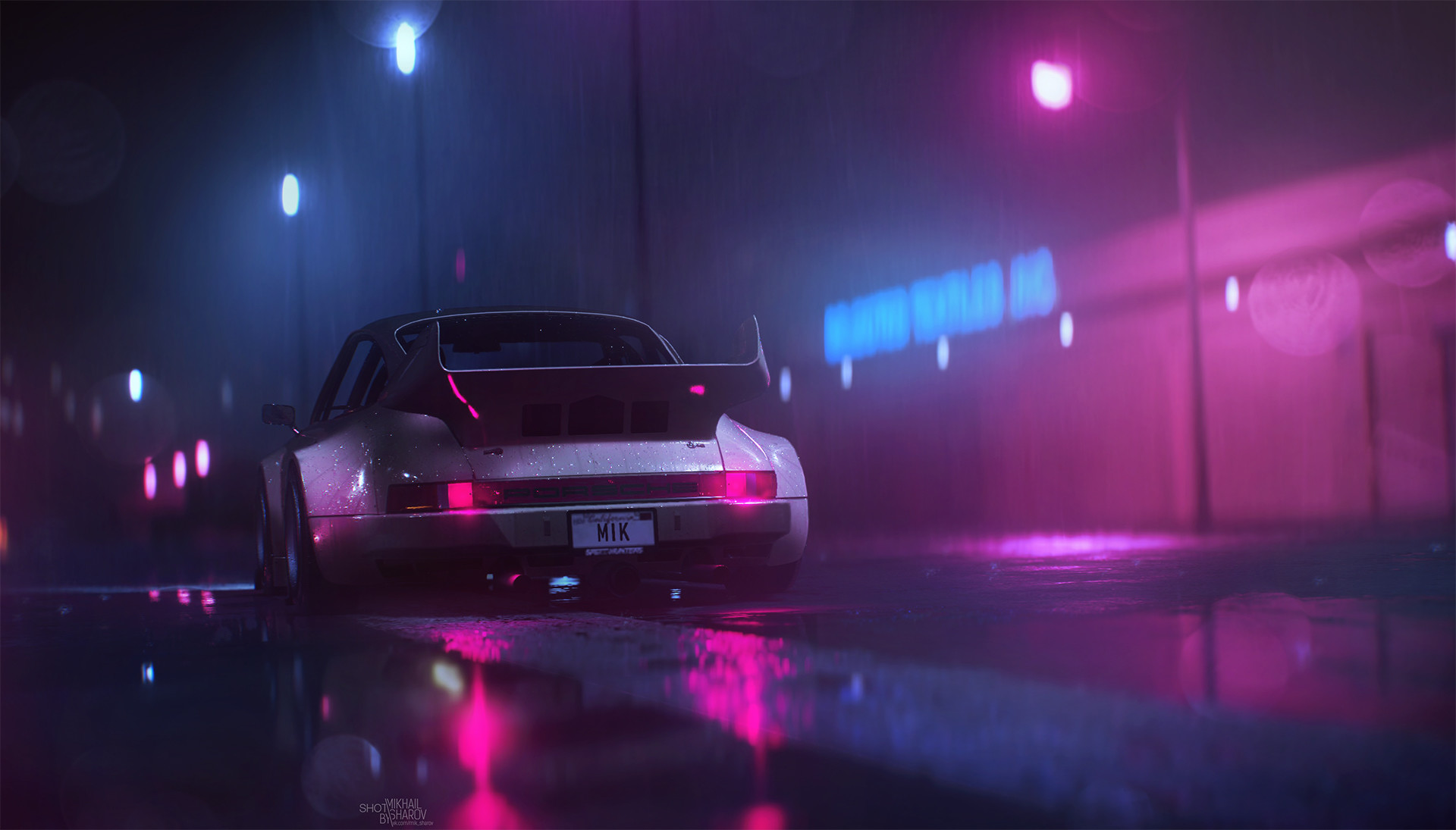 1920 Car Synthwave Wallpaper Neon Nights X Post R Wallpapers Outrun
