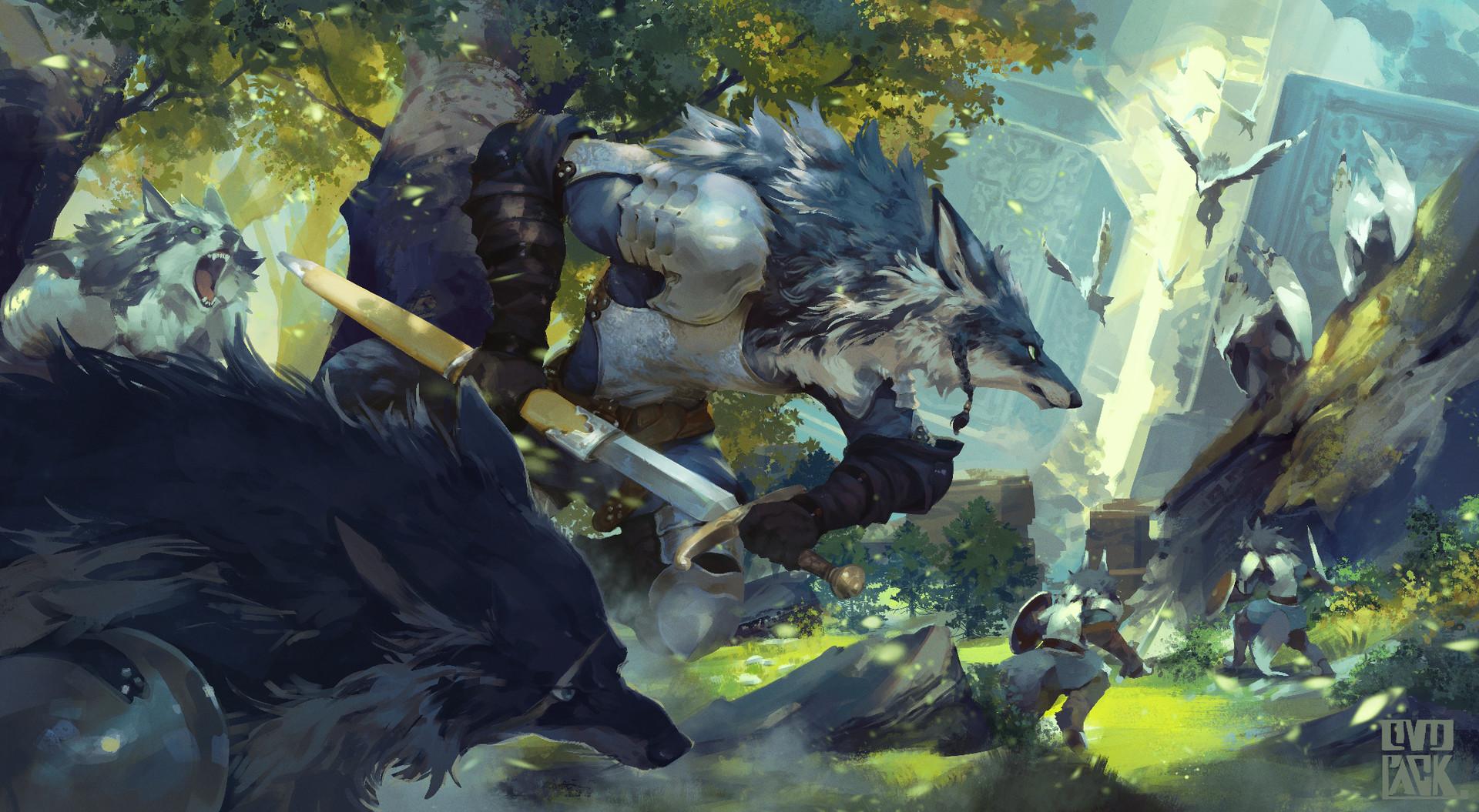 Beautiful Fiction Girl Wallpapers Artstation Battle Of Forest Ryota Murayama