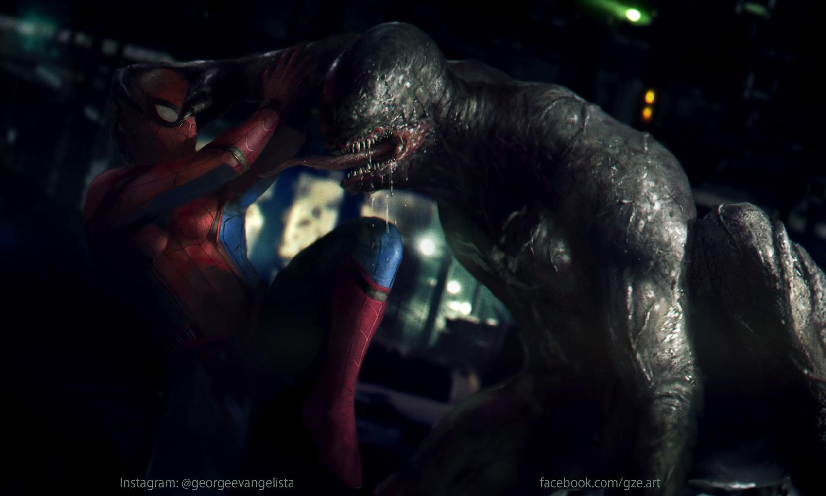 Justice League Movie Hd Wallpapers Artstation Venom Vs Spiderman George Evangelista
