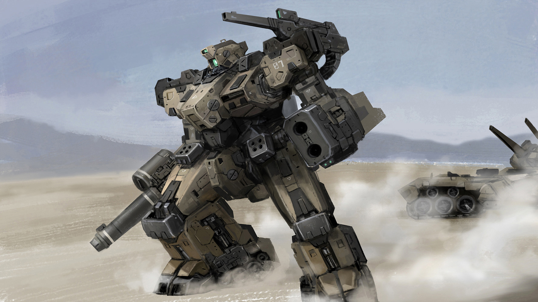 Gundam Girl Wallpaper Artstation Desert Mech Ricky Ryan