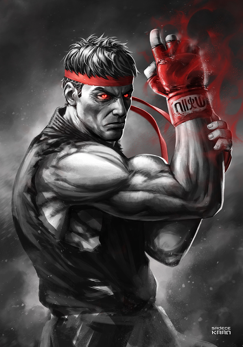 Iori Yagami Wallpaper 3d Artstation Evil Ryu Street Fighter Sadece Kaan