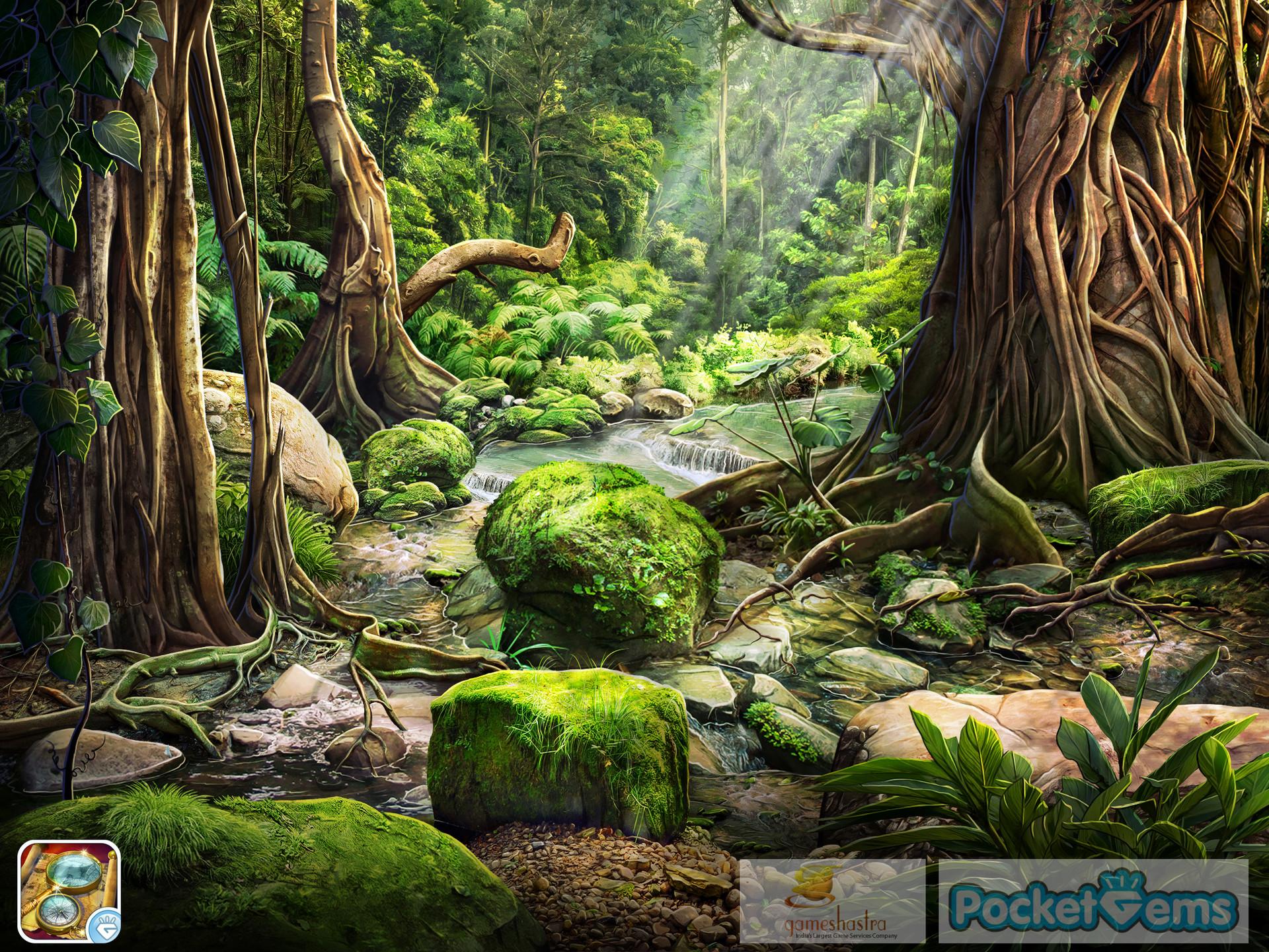 Hidden 3d Illusion Wallpapers Artstation Jungle Floor Vinodh Sivaraja
