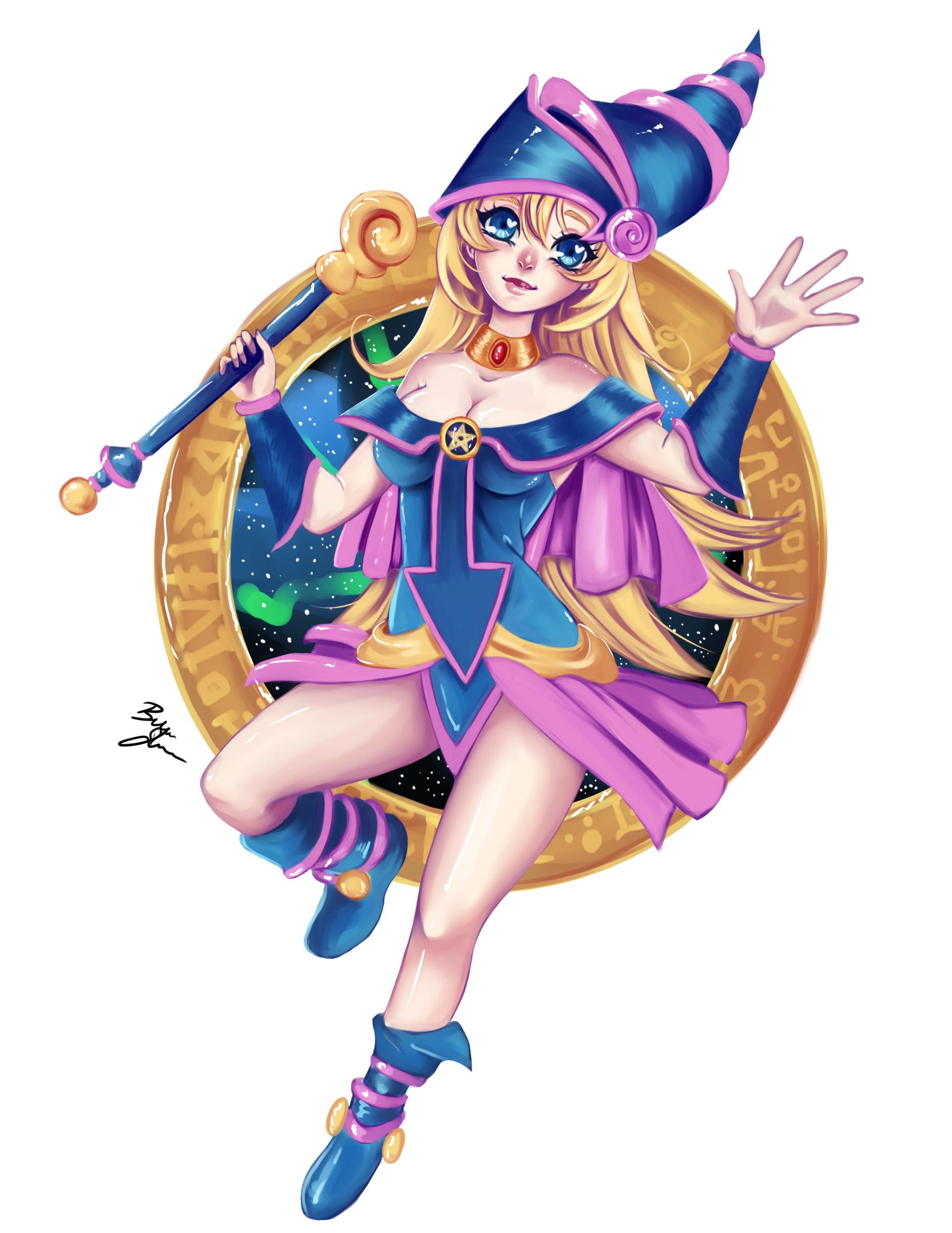 Gagaga Girl Wallpaper Brittni Jensen Dark Magician Girl Fanart