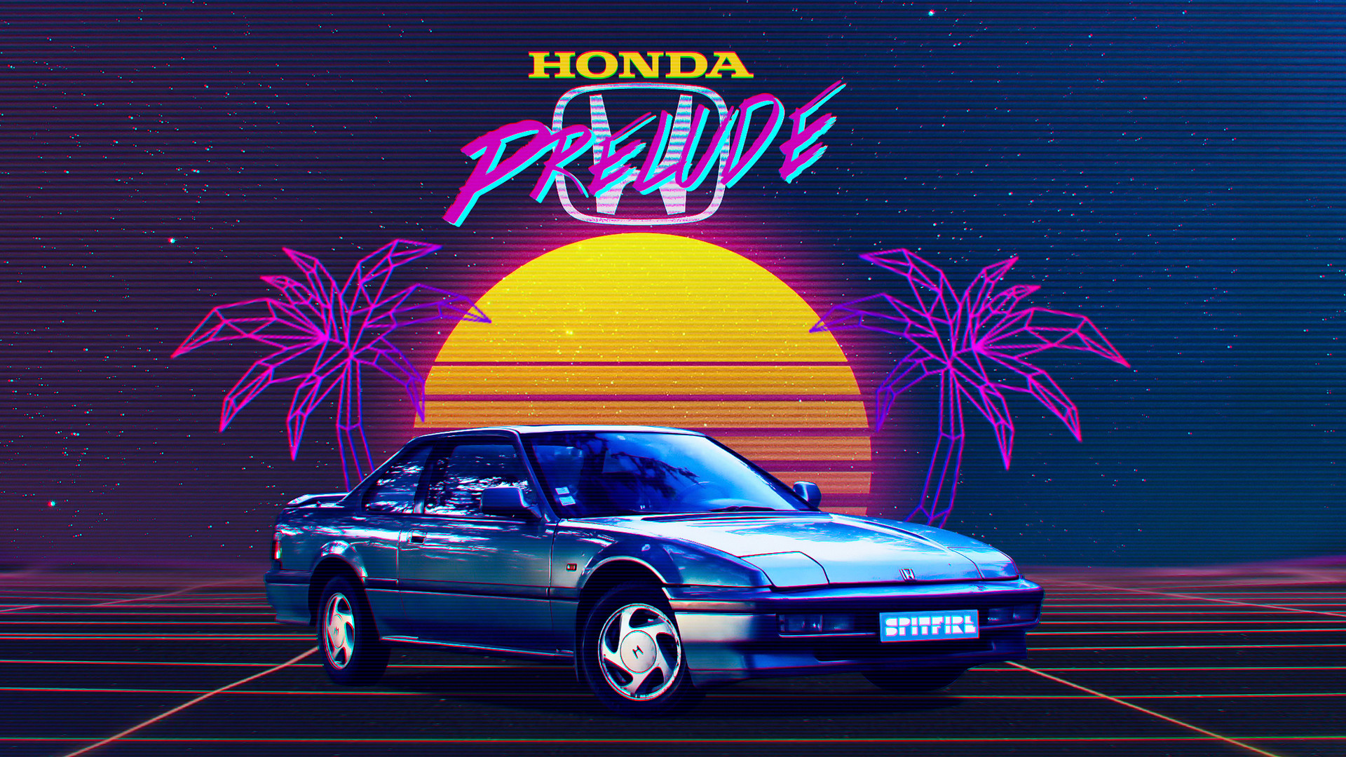 Drift Car Wallpaper Hd Artstation Honda Prelude 80 S Retrowave Pierre Collin